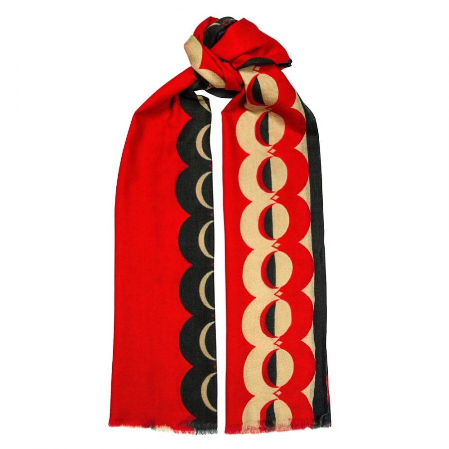 Toolally_Crescent_Orbs_Scarf_Red