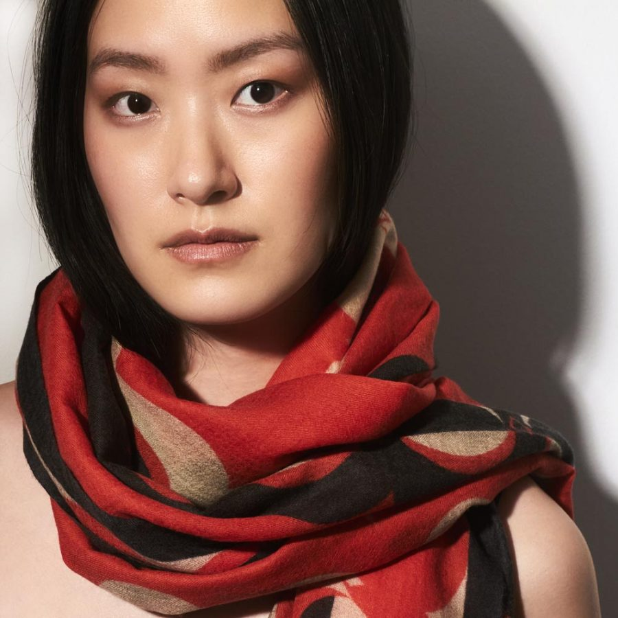 Toolally_Crescent_Orbs_Scarf_Red_Lifestyle_2