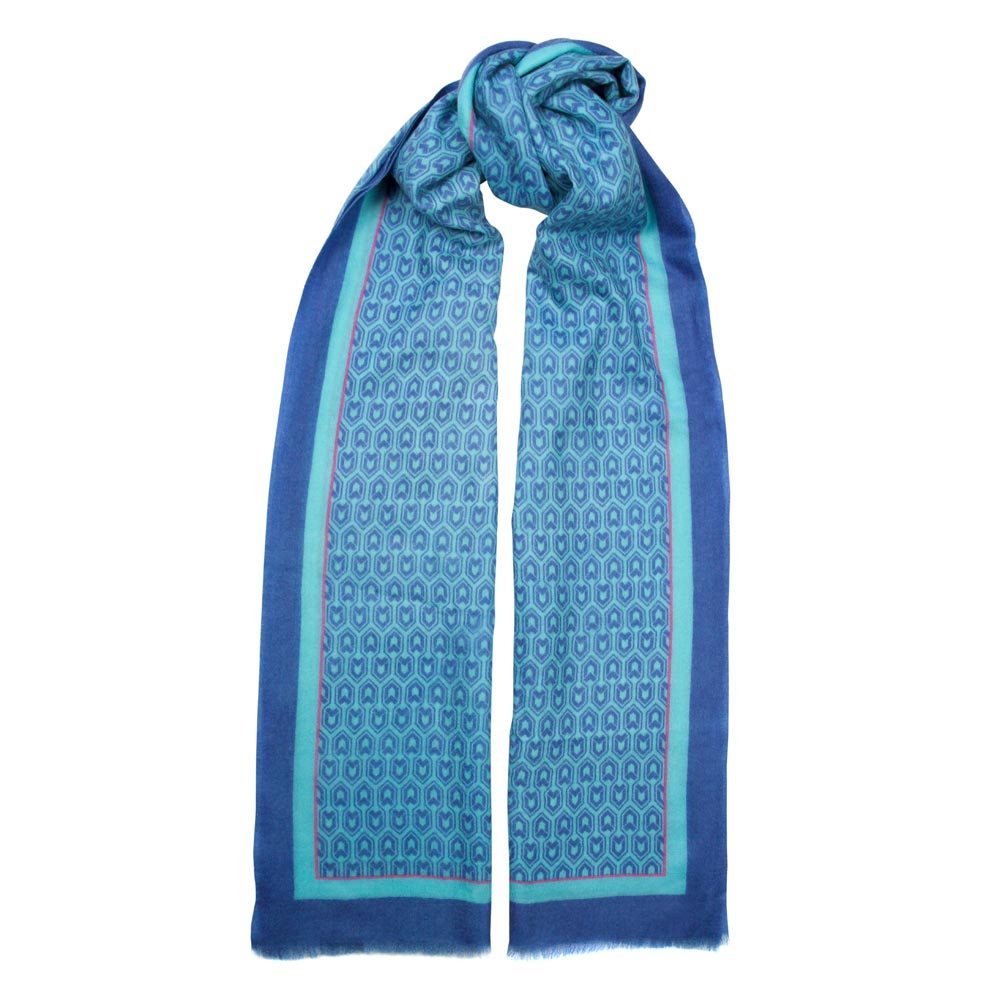 Toolally_Houndstooth_Scarf_Cobalt