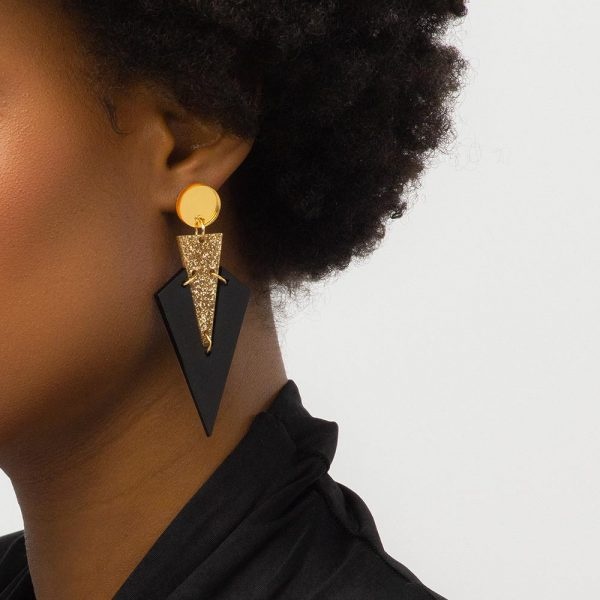 Toolally art deco drops black gold lifestyle