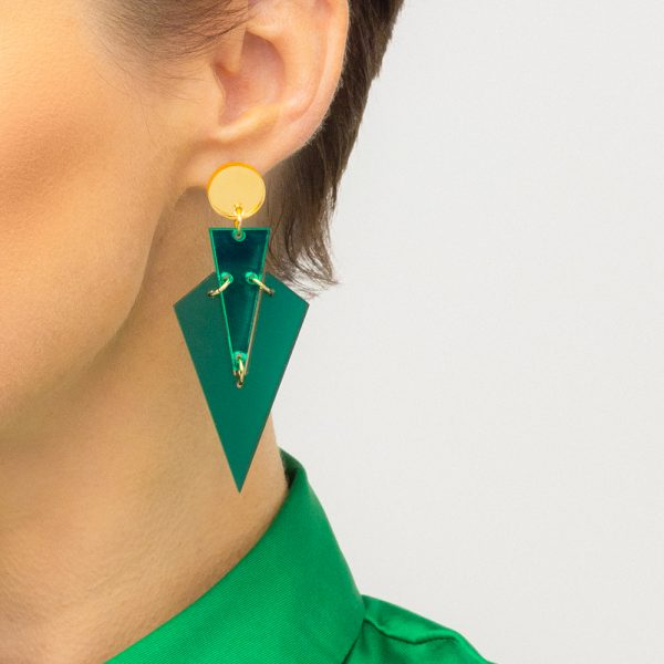 Toolally art deco drops emerald green lifestyle