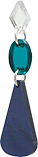 Toolally Chandelier Drops Navy Pearl & Teal Mirror App Image