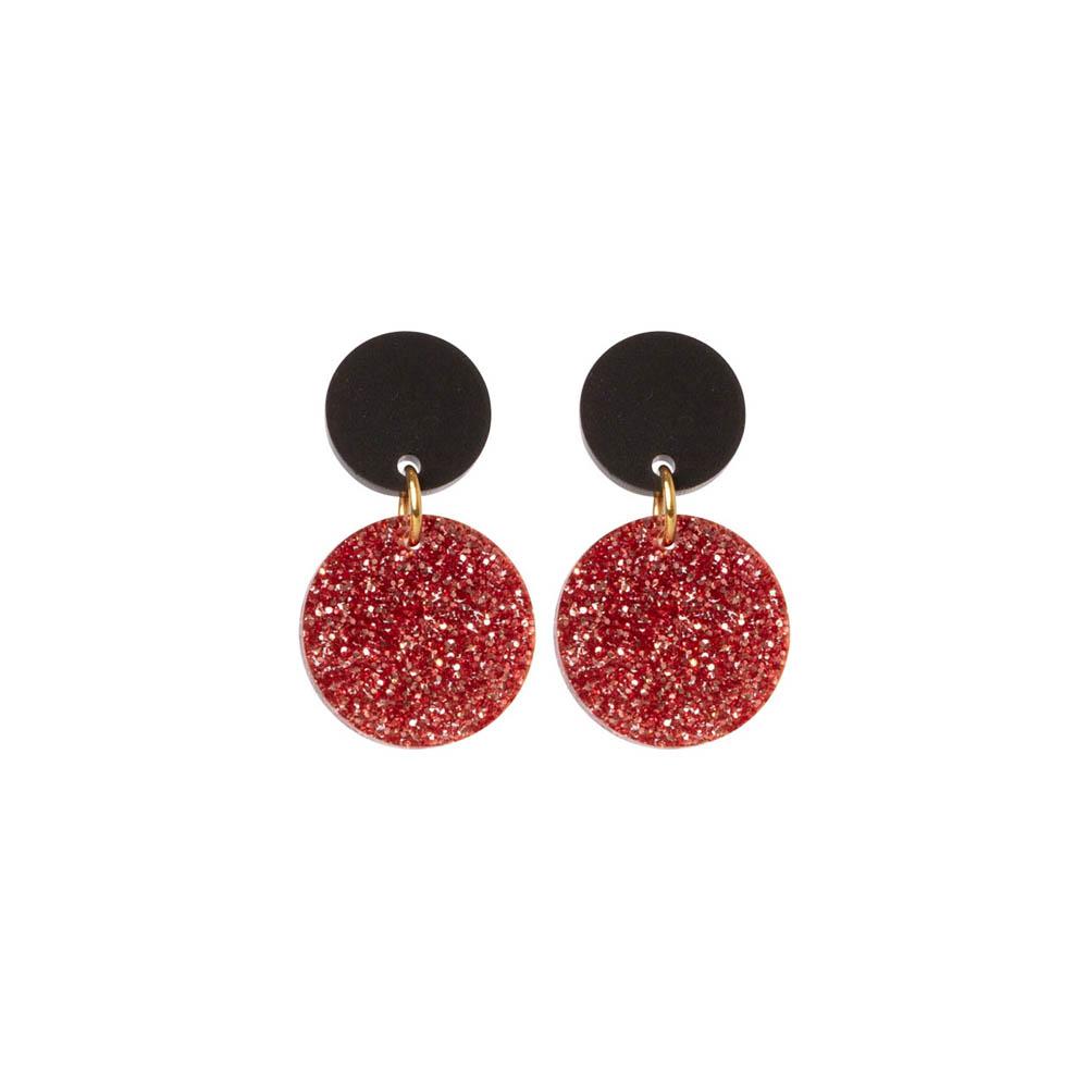 Toolally Dotty Dots Rose Gold Glitter & Black