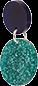 Toolally Dotty Dots Teal Glitter & Navy App Image