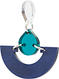 Toolally Mini Fans Navy Pearl & Teal Mirror App Image