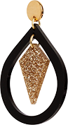 Toolally Pear and Diamond Black & Gold Glitter App Image