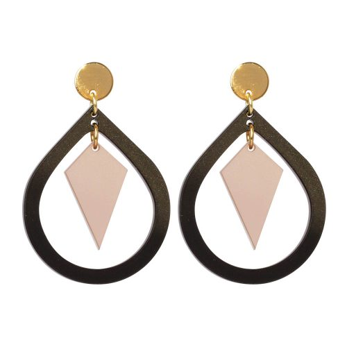 Toolally Pear and Diamond Black & Nude