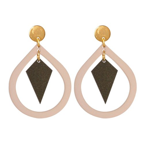 Toolally Pear and Diamond Nude & Black