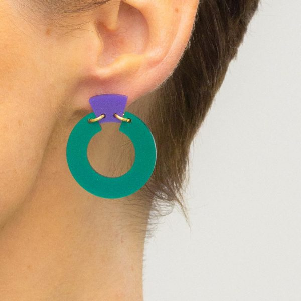 Toolally petite shift hoops green purple lifestyle
