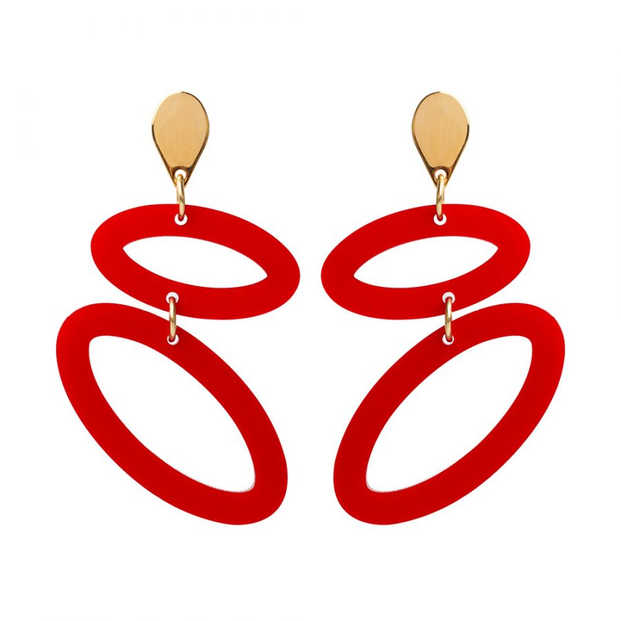 Toolally Ellipses Royal Red Gold