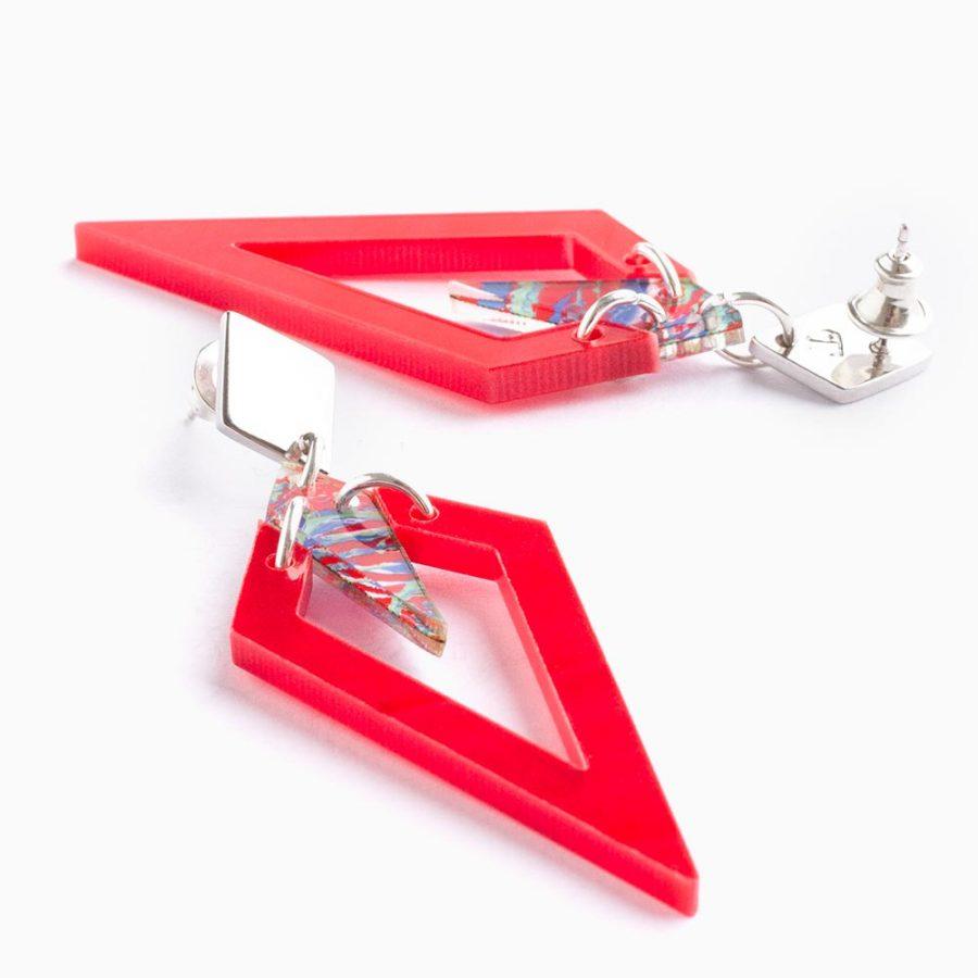 Toolally Arrowheads Red Splatter Flatlay