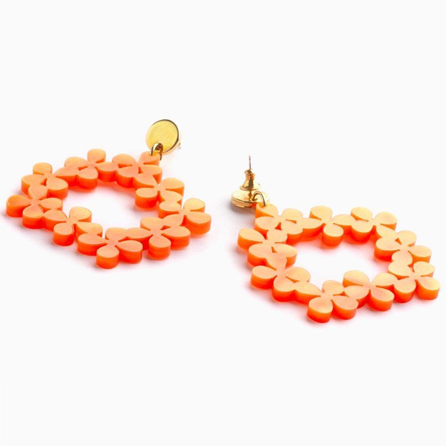 Toolally Daisy Chains Orange Marble Flatlay