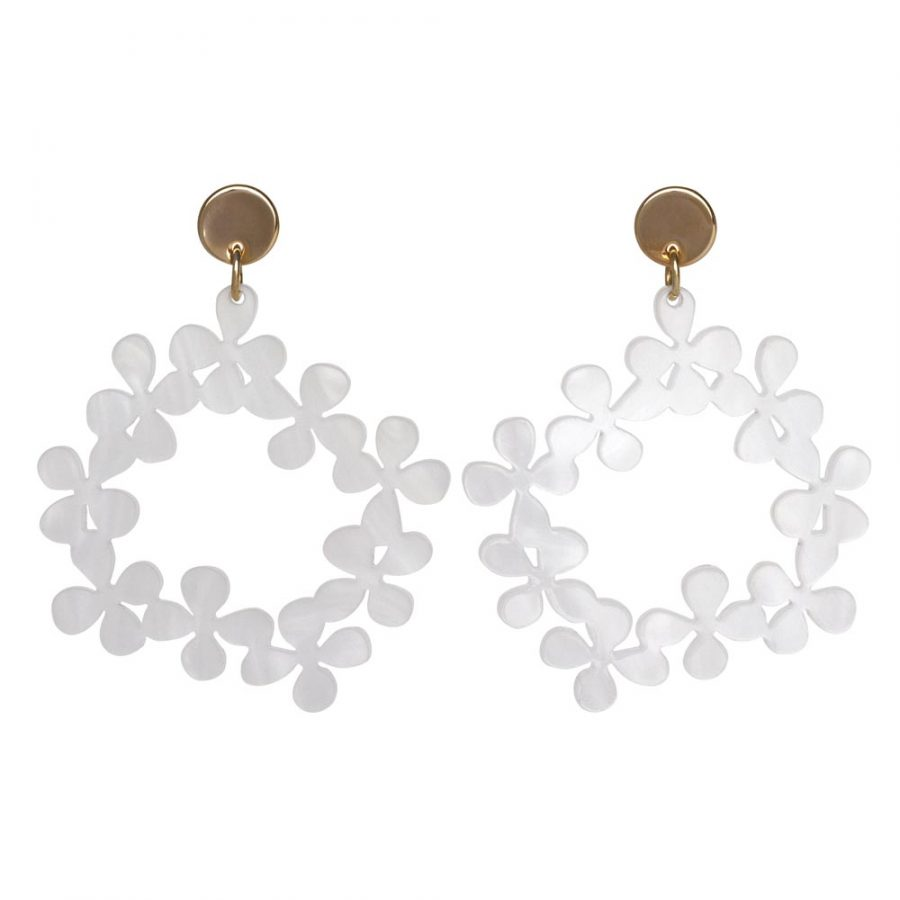 Toolally Daisy Chains in White Marble