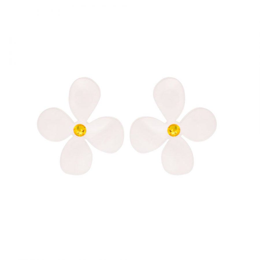 Toolally Daisy Studs in White