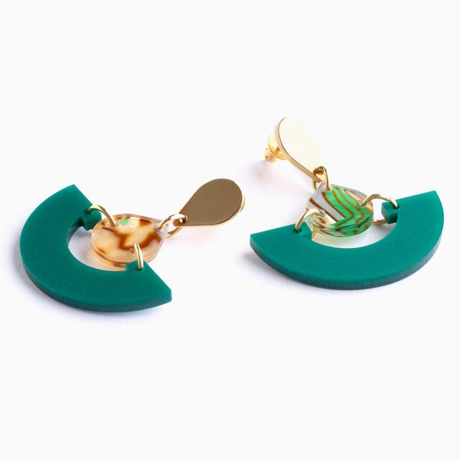 Toolally Mini Fans Royal Green Flat lay