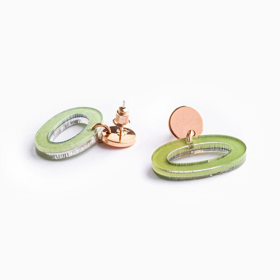 Toolally Ovals Jade Stone Flatlay