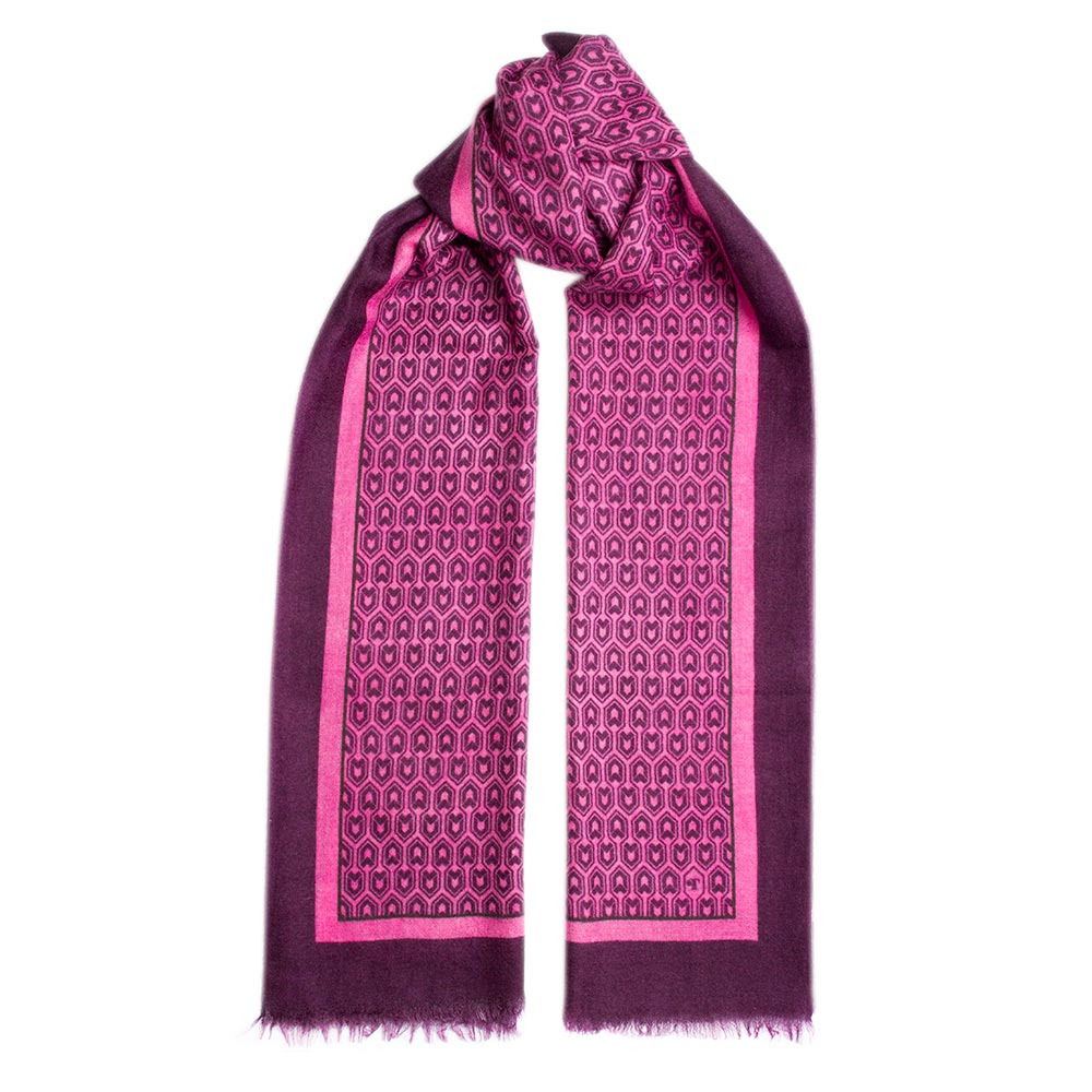 Toolally_Houndstooth_Scarf_Fuschia