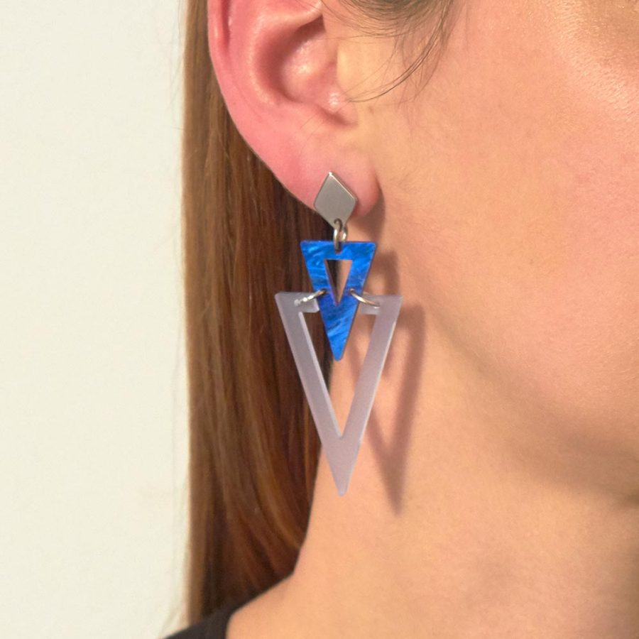 Toolally Arrows in Electric Blue & Blue Swirl