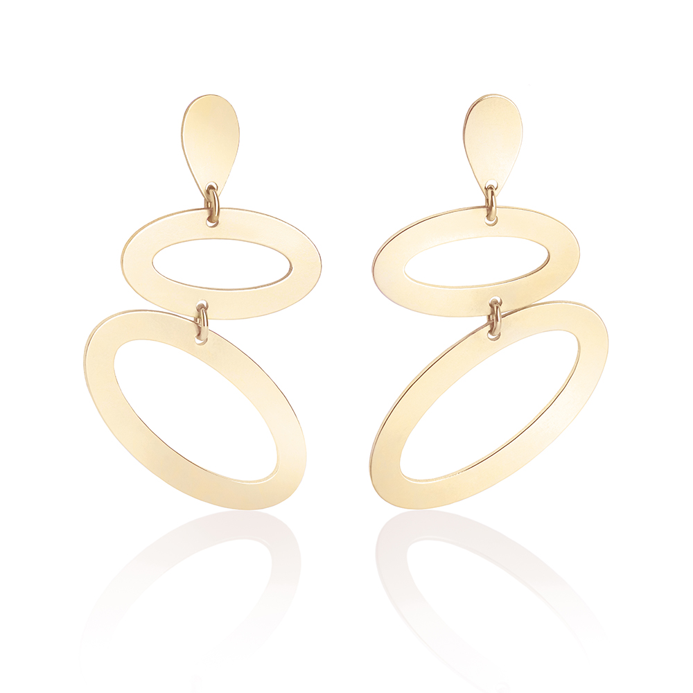 Toolally Ellipses in Gold Vermeil