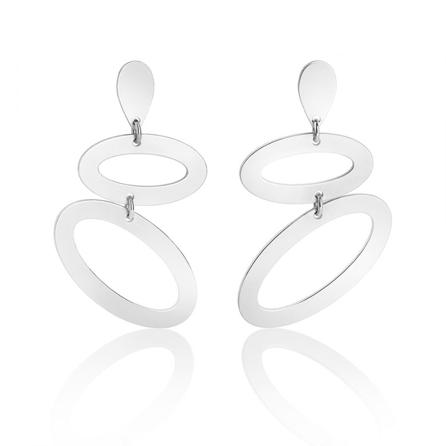 Toolally Ellipses in Sterling Silver