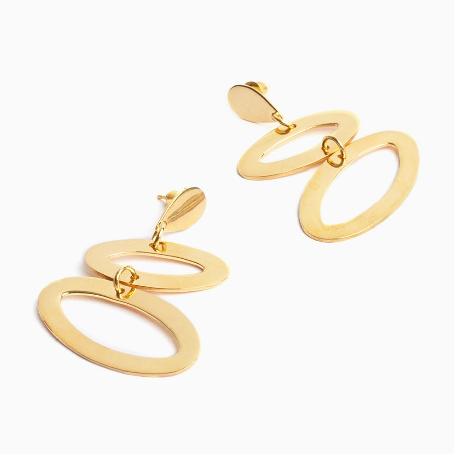 Toolally Ellipses in Gold