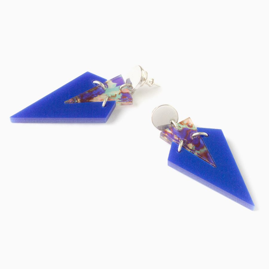 Toolally Art Deco Droplets Royal Blue Flatlay