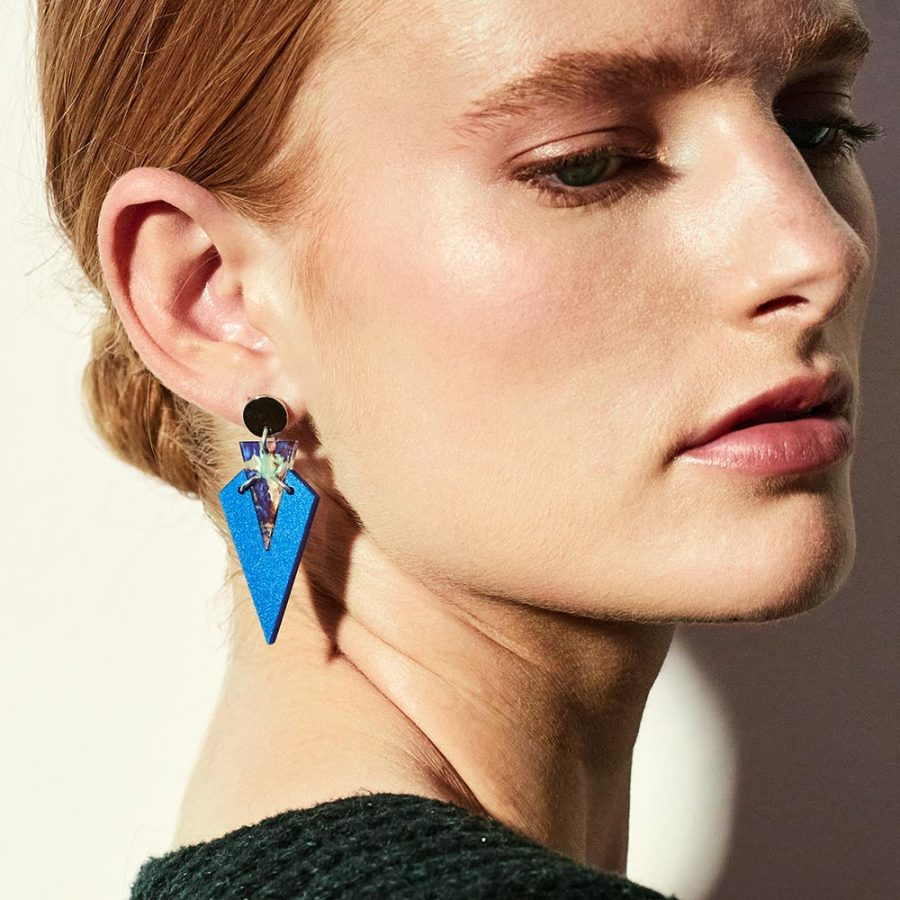 Toolally Art Deco Droplets Royal Blue Lifestyle