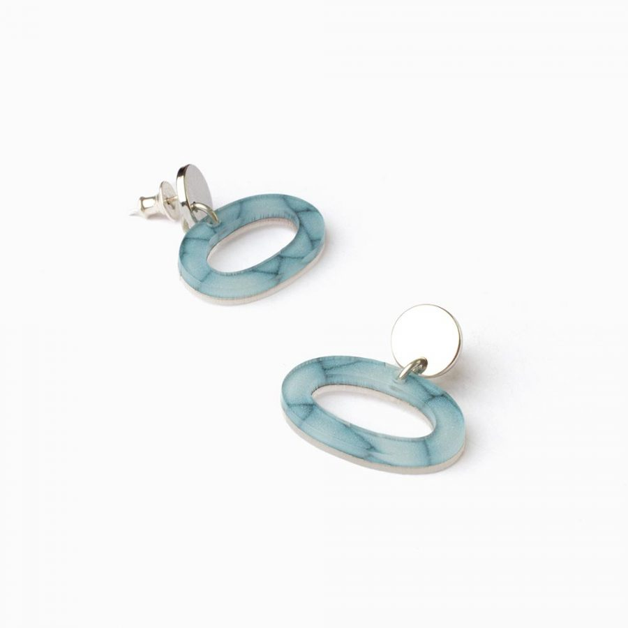 Toolally Earrings Ovals Porcelain Flatlay