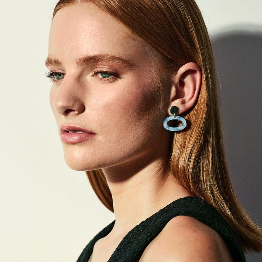 Toolally Earrings - Ovals Porcelain Lifestyle
