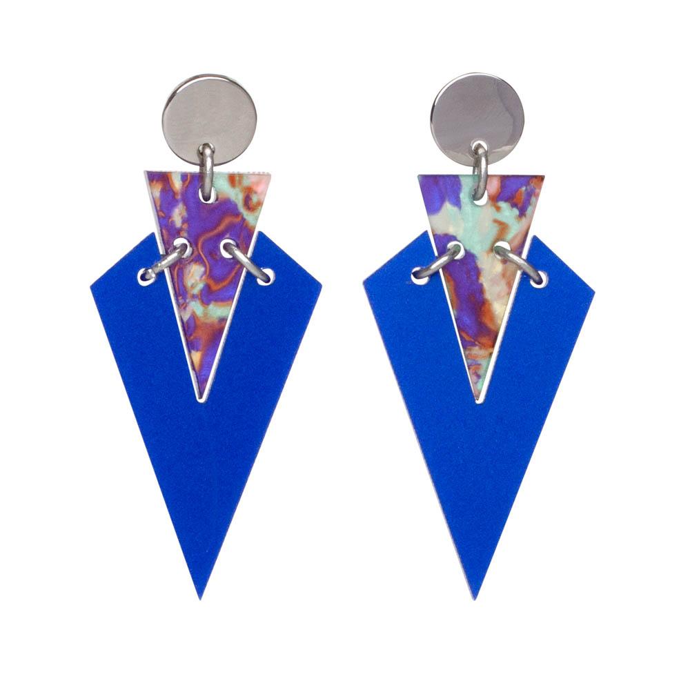 Toolally Art Deco Droplets in Royal Blue & Blue Splatter