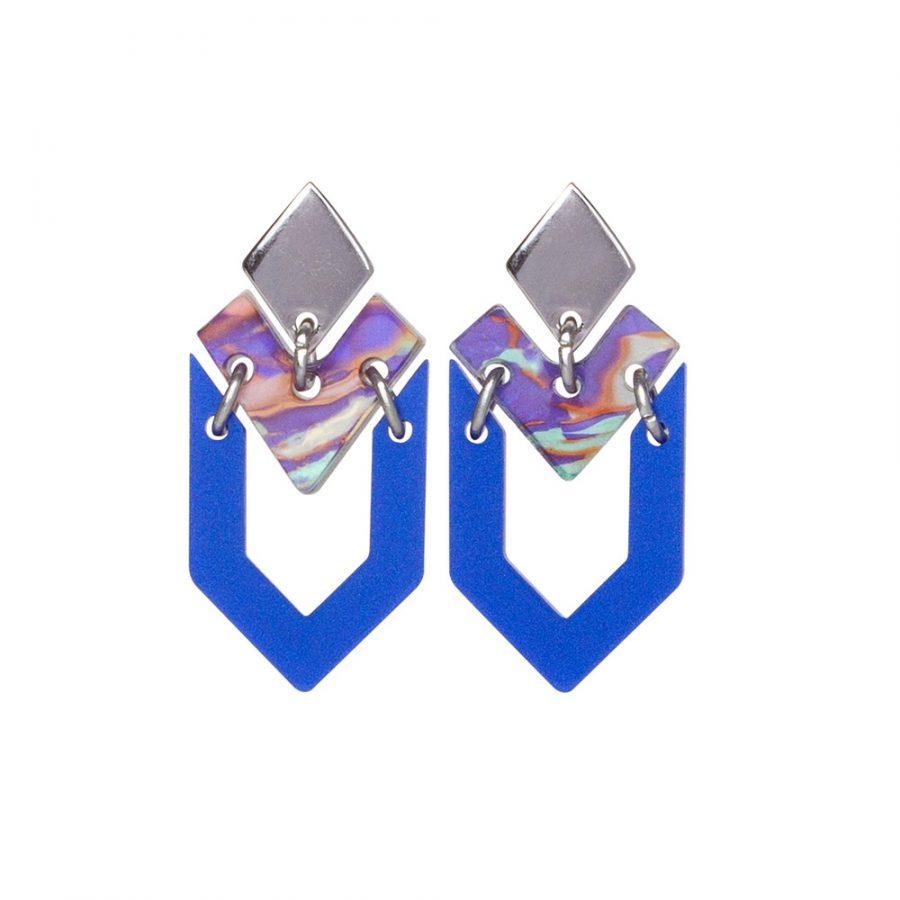 Toolally Houndstooth Royal Blue & Blue Splatter