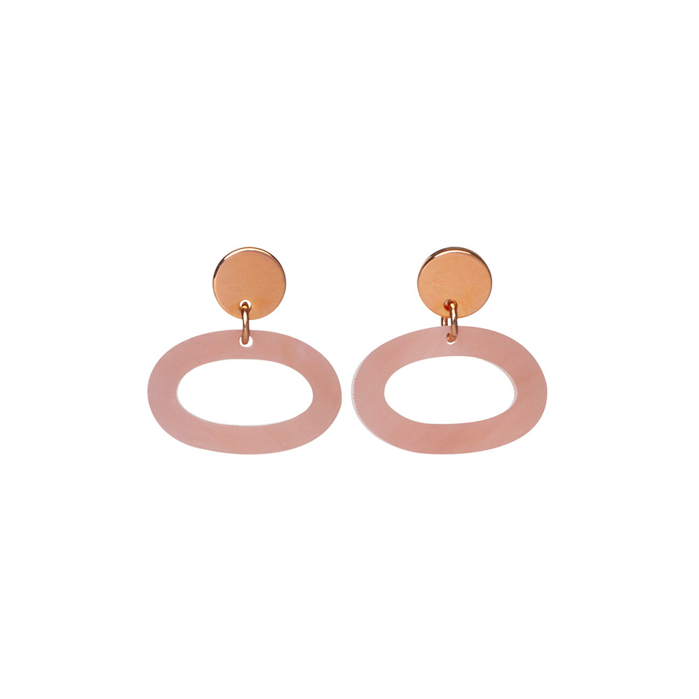 Toolally Ovals in Antique Rose