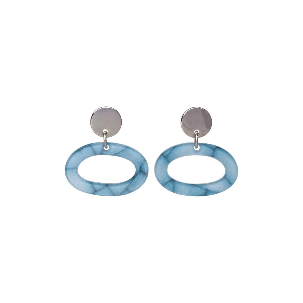 Toolally Ovals Earrings - Porcelain