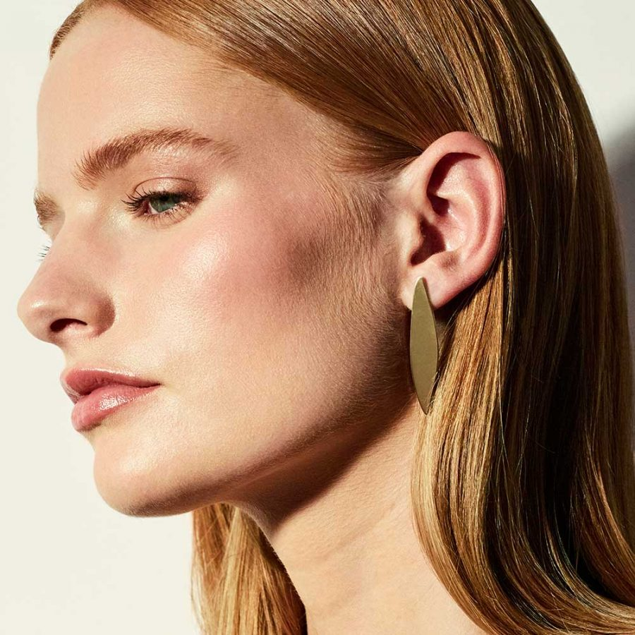 Toolally - Mags Walker - Gold Vermeil Acacia earrings