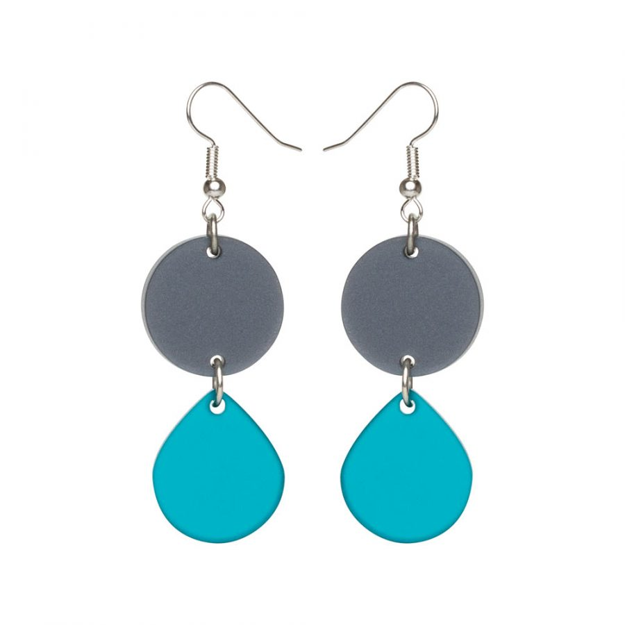 Toolally Earrings - Cutting Room - Azure & Silver