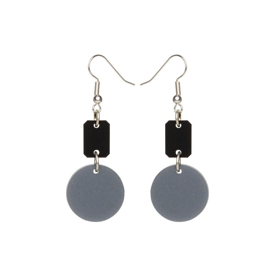 Toolally Earrings - Cutting Room 32 - Black & Silver Royal