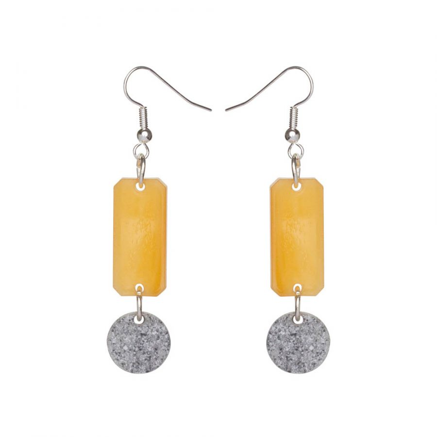 Toolally Earrings - Cutting Room 25 - Mica & Grey Stone