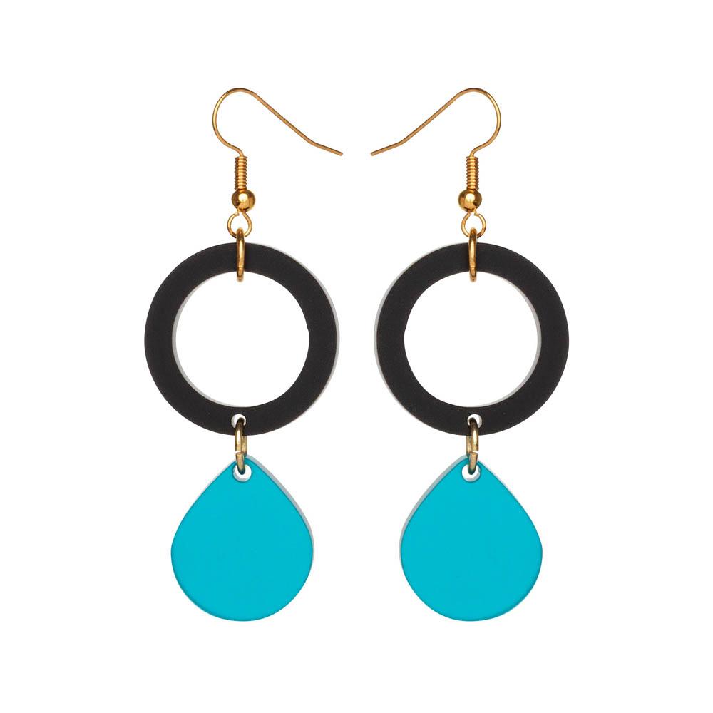 Toolally Earrings - Cutting Room 23 - Black & Azure