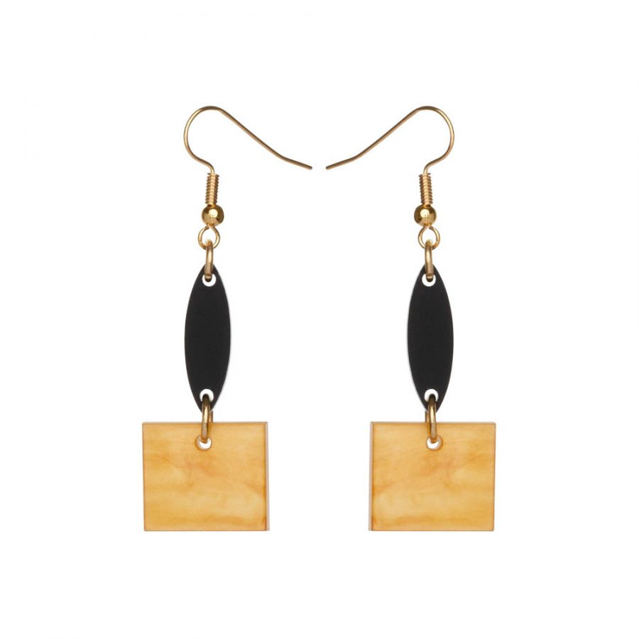 Toolally Earrings - Cutting Room 22 - Mica & Black