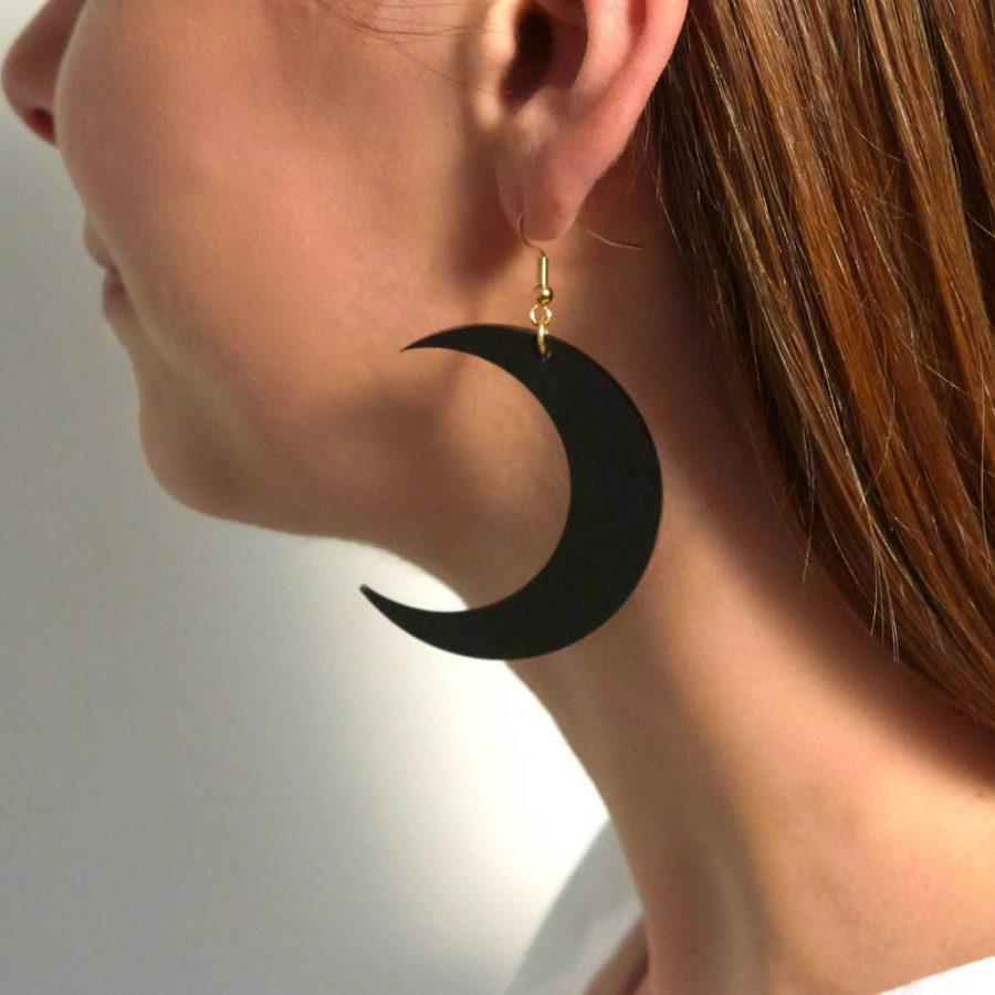 Toolally Earrings - Cutting Room 10 - Black