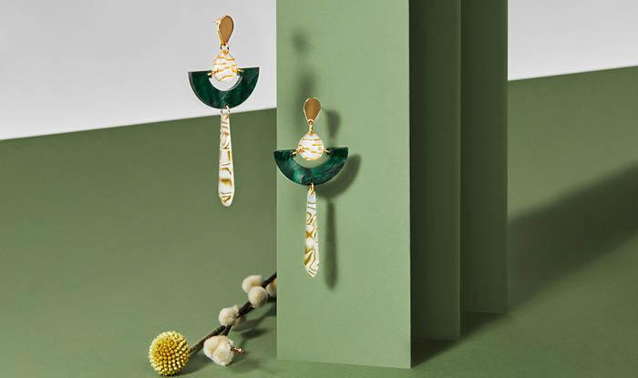 Toolally Earrings - Art Deco - AW21