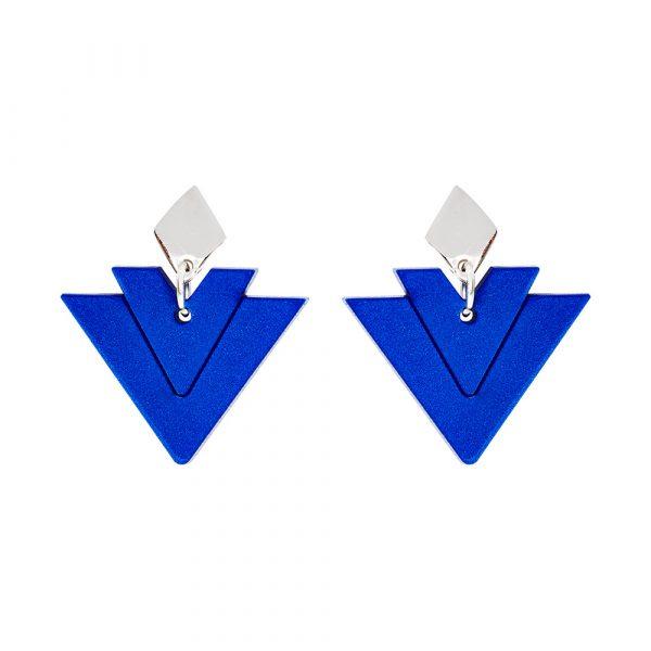 Toolally Earrings - Art Deco - Arrow Drops - Royal Blue