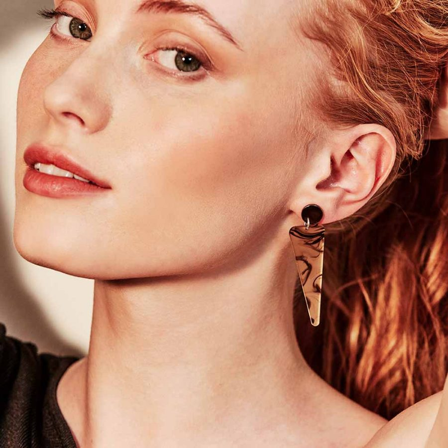 Toolally Earrings - Simple Statements - Icicles - White Tortoiseshell