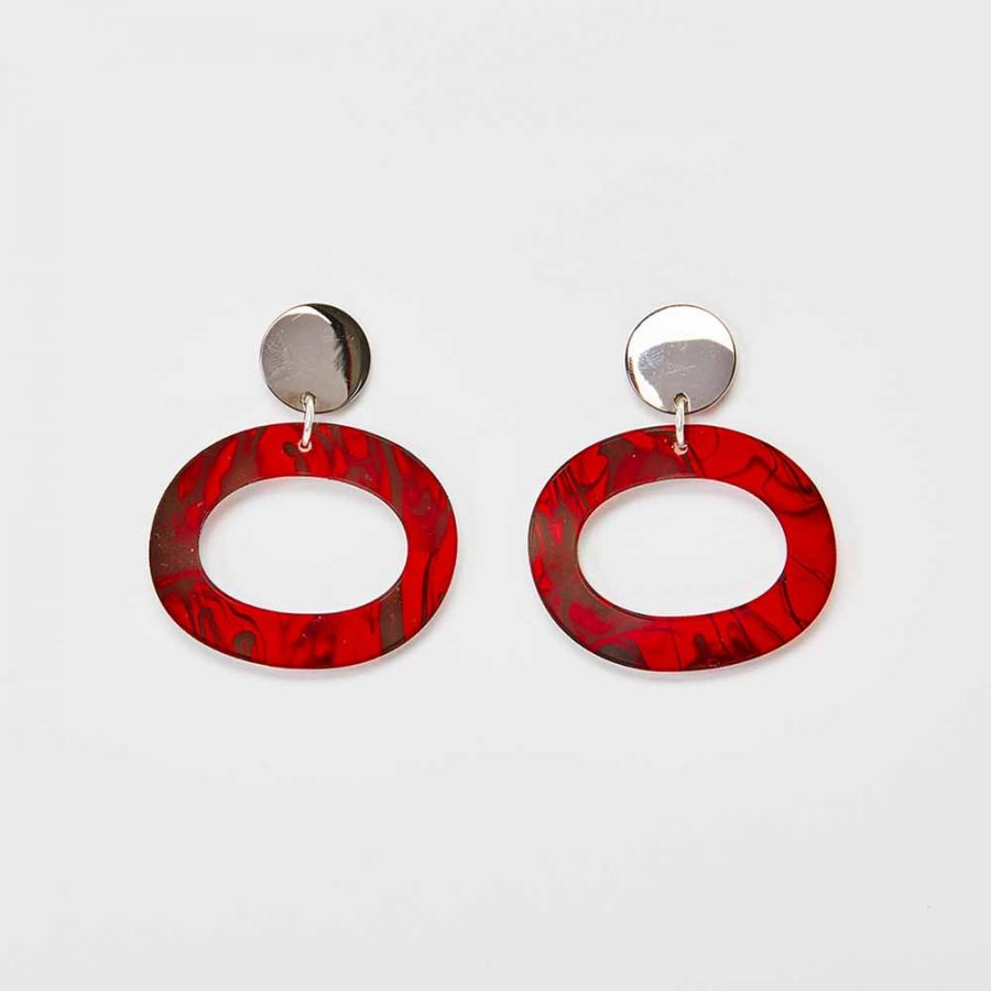 Toolally Earrings - Simple Statements - Icicles - Red Tortoiseshell