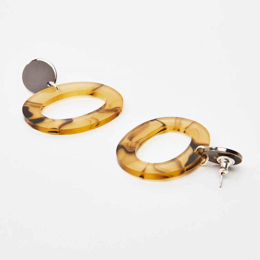 Toolally Earrings - Simple Statements - Ohs - White Tortoiseshell