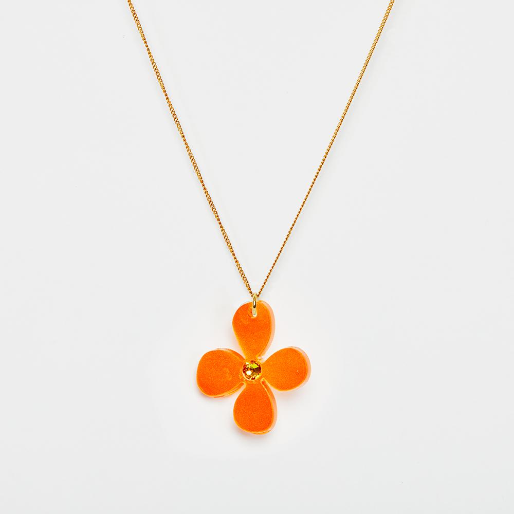 Toolally Pendants - Small Daisies - Orange Pearl