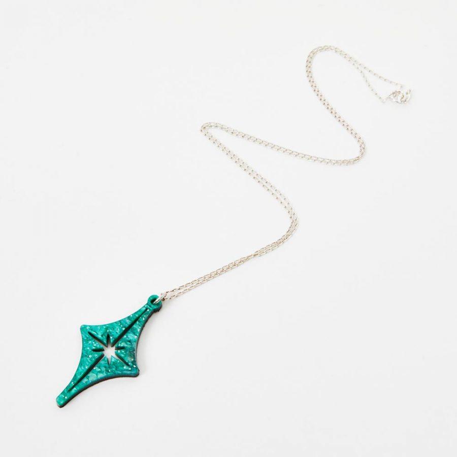 Toolally Pendants - Starlight - Green Sparkle