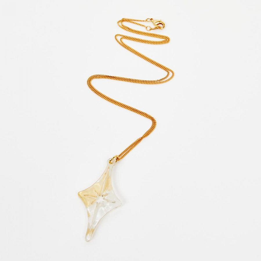 Toolally Pendants - Starlight - White and Gold Pearl
