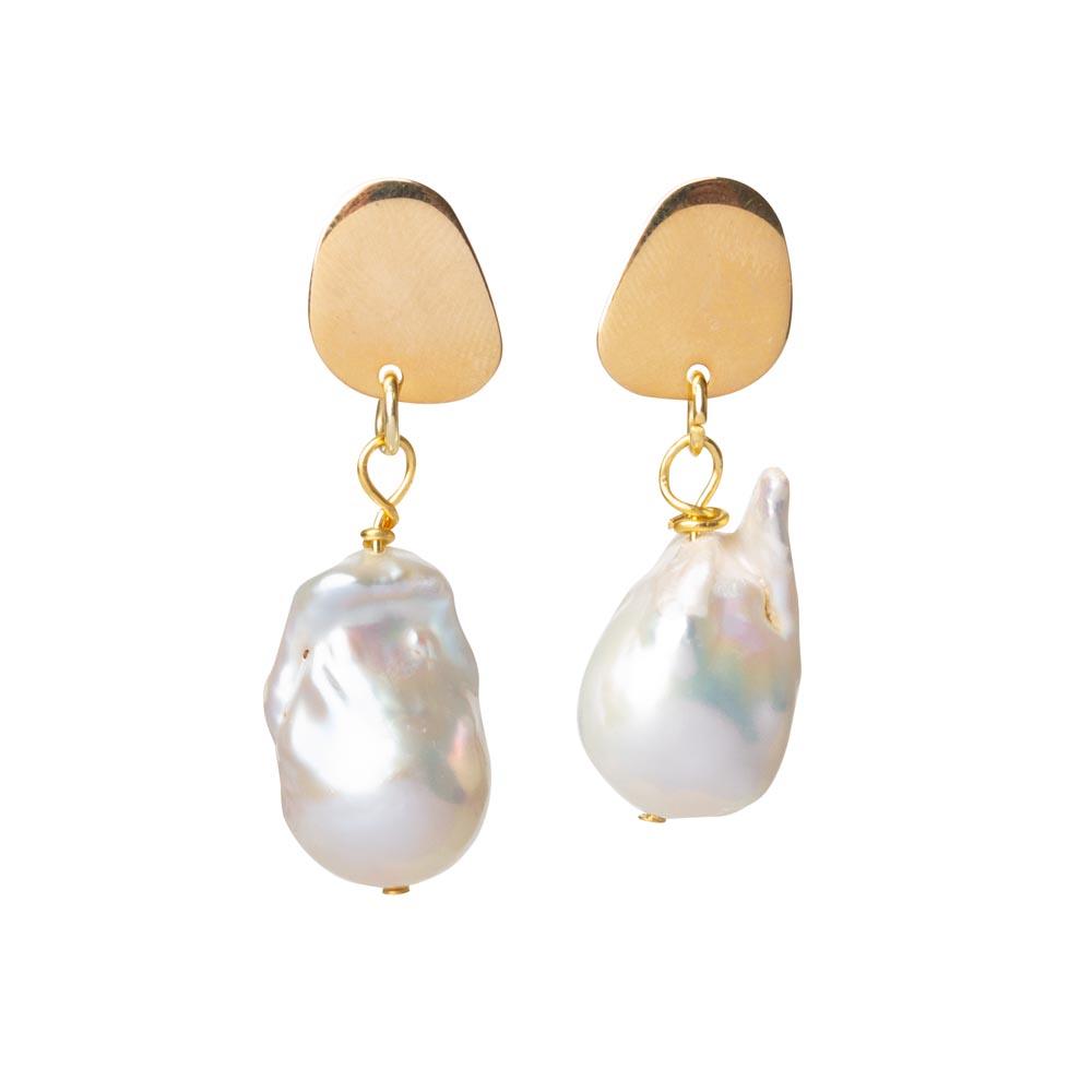Toolally Flameball Pearl Earrings